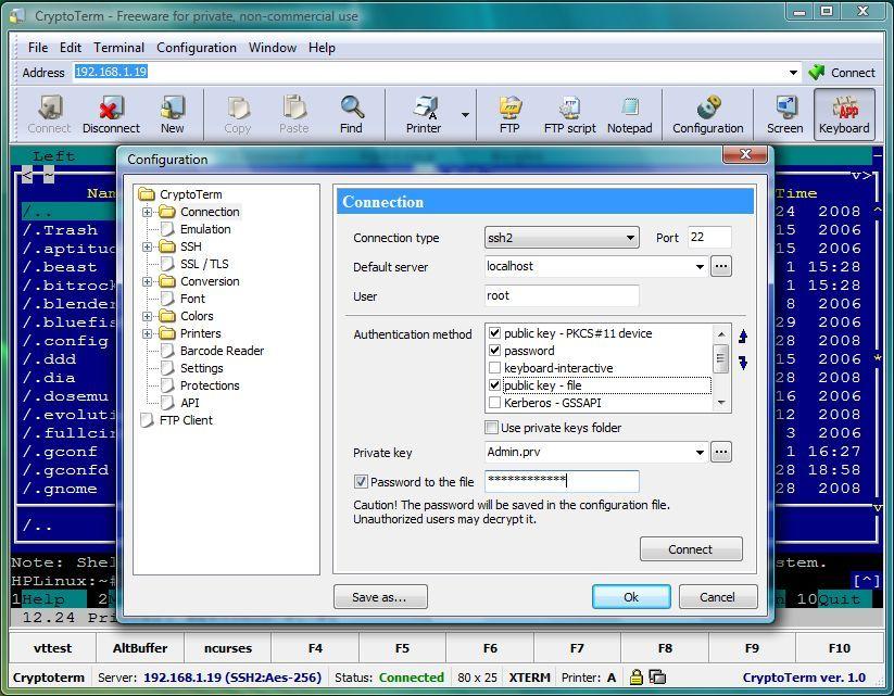 CryptoTerm screenshot